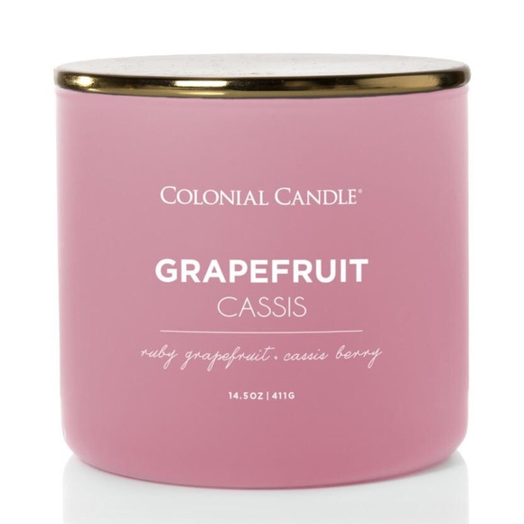 Colonial Candle Other - 3 New Colonial Candles Grapefruit Cassis 14.5 oz.